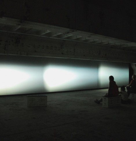 Rainer Kohlberger, Installation: Panoramic projection, stroboscopes and sound