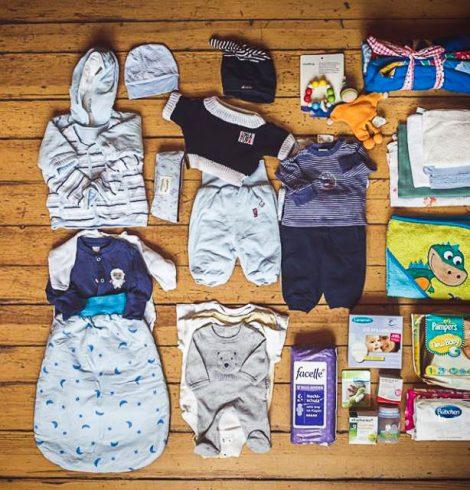 Welcome Baby Bag WBB Inhalt - Fotografin Maria Herzog - Donaciones para madres refugiadas de Berlin
