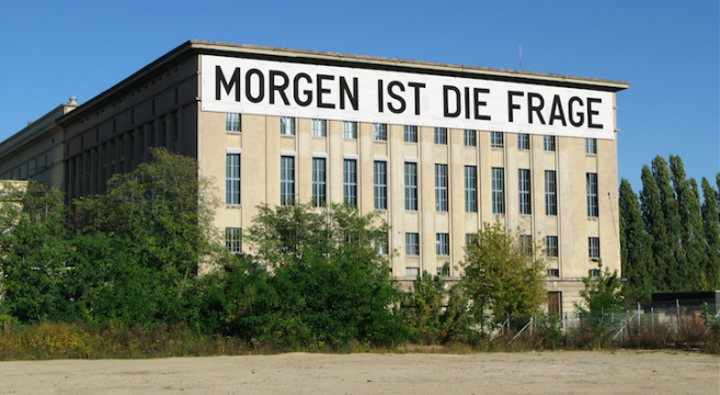 Berlin Art Week_ Rirkrit Tiravanija, MORGEN IST DIE FRAGE for Studio Berlin 2020 at Berghain (installation rendering)